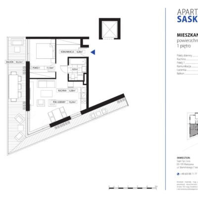Apartament Saska Kępa nr 3