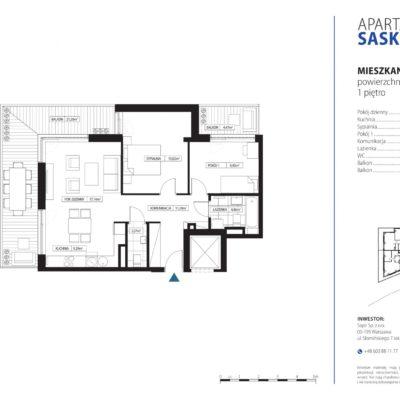 Apartament Saska Kępa nr 4