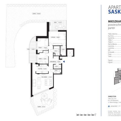 Apartament Saska Kępa nr 1