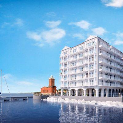 Apartament 45 m² z widokiem na morze i port